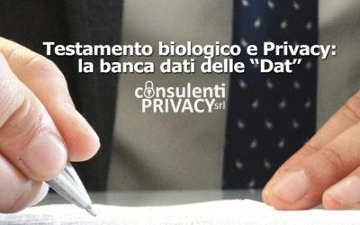 """Testamento biologico e Privacy: il sì del Garante alla banca dati nazionale delle """"Dat""""."""