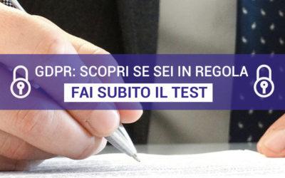 GDPR: un semplice test per verificare se sei in regola
