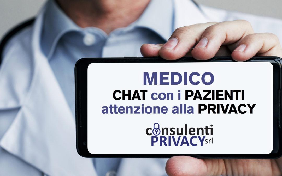 Dati sanitari in chat attenzione alla privacy