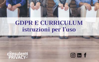 Privacy e Curriculum Vitae: l'autorizzazione ai tempi del GDPR