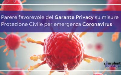 Coronavirus: il parere del Garante della Privacy sulle richieste della Protezione Civile