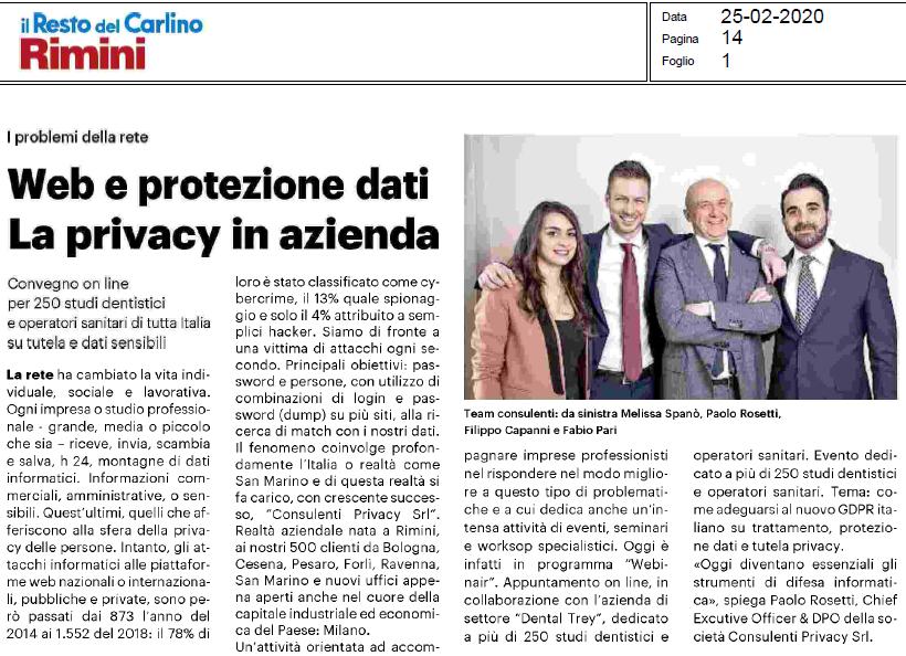 Protezione dei dati sul web - Consulenti Privacy