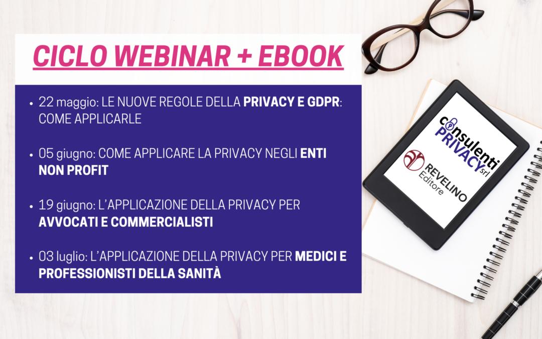 Webinar gratuiti formazione GDPR e Privacy Policy