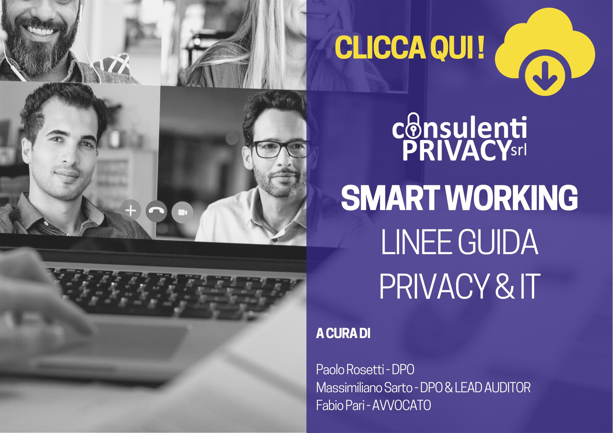 Smart working: linee guida adempimenti privacy