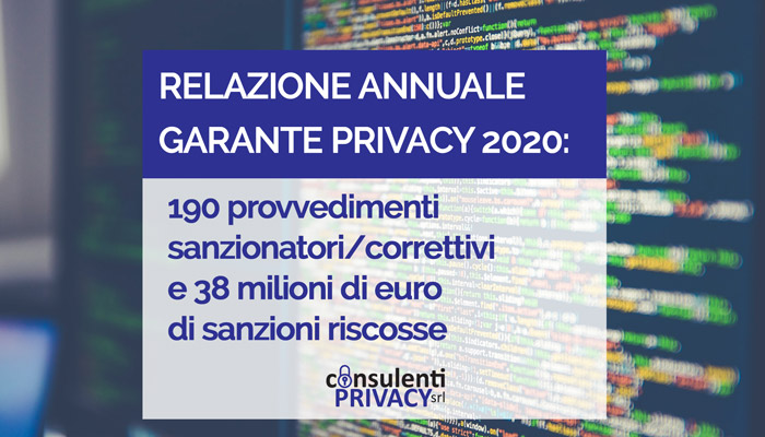 garante privacy relazione annuale 2020